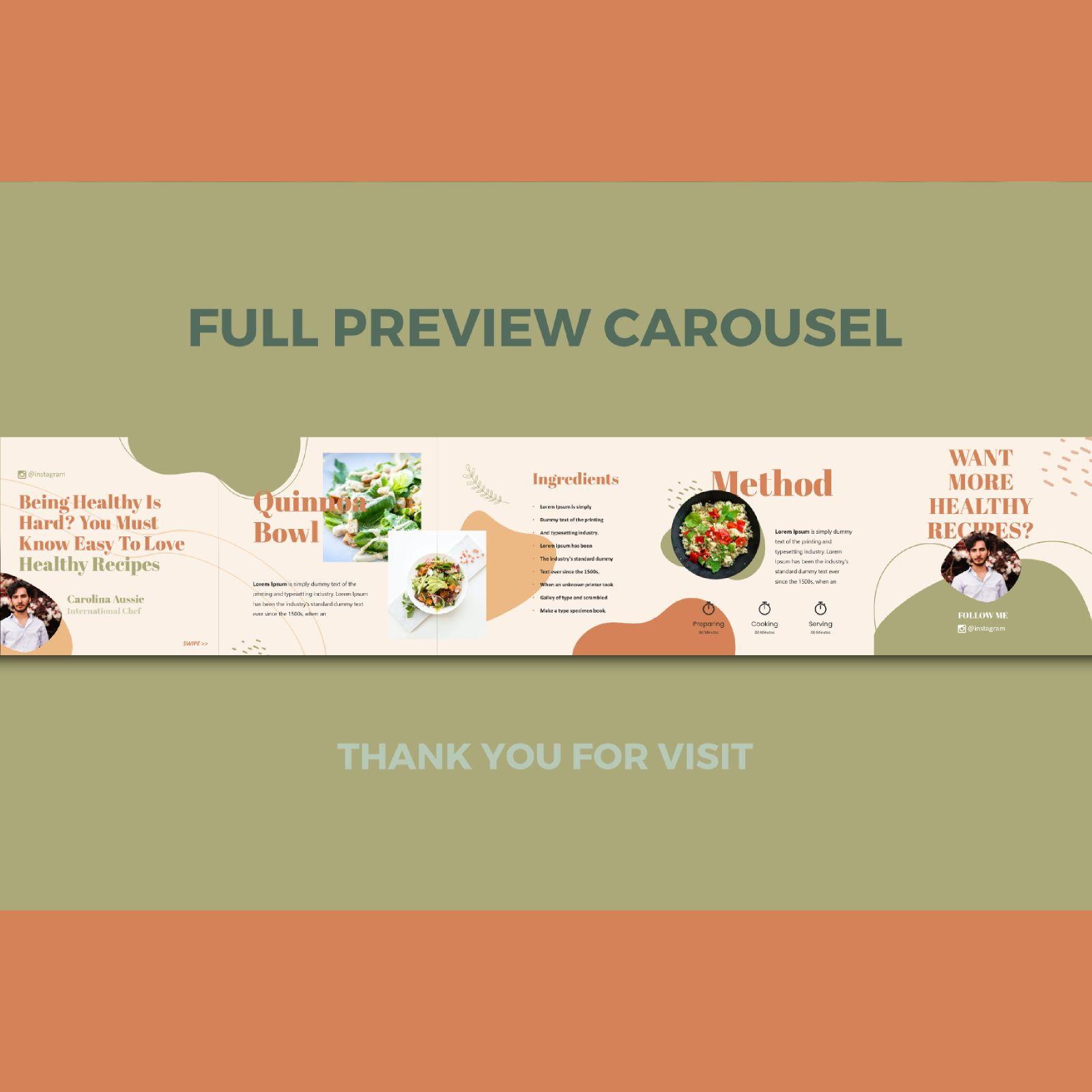 Healthy recipes instagram carousel keynote template, Slide 3, 08362, Infographics — PoweredTemplate.com