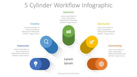 Infographics: 5 Cylinder Workflow Infographic #08363