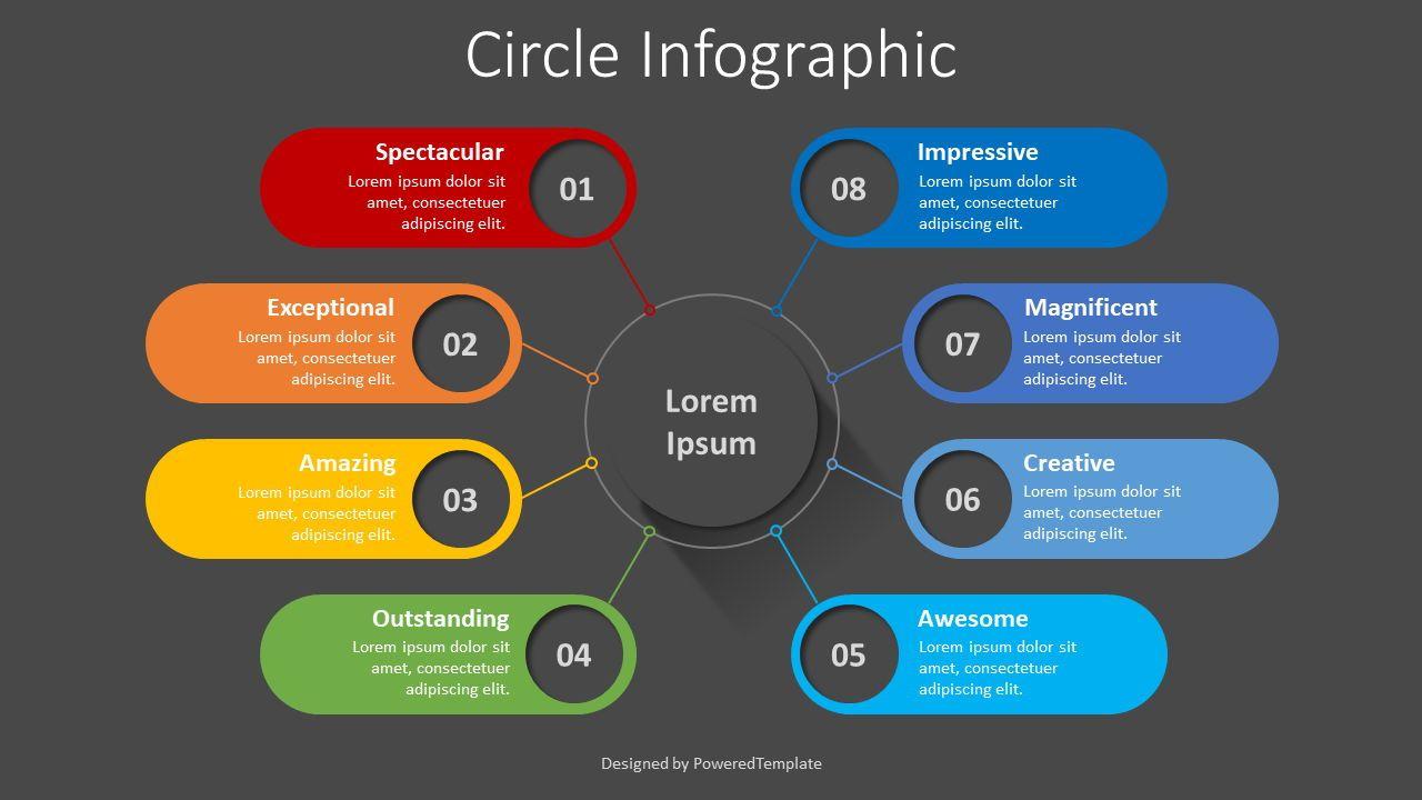 Organization Chart with Eight Options, Slide 2, 08364, Infographics — PoweredTemplate.com