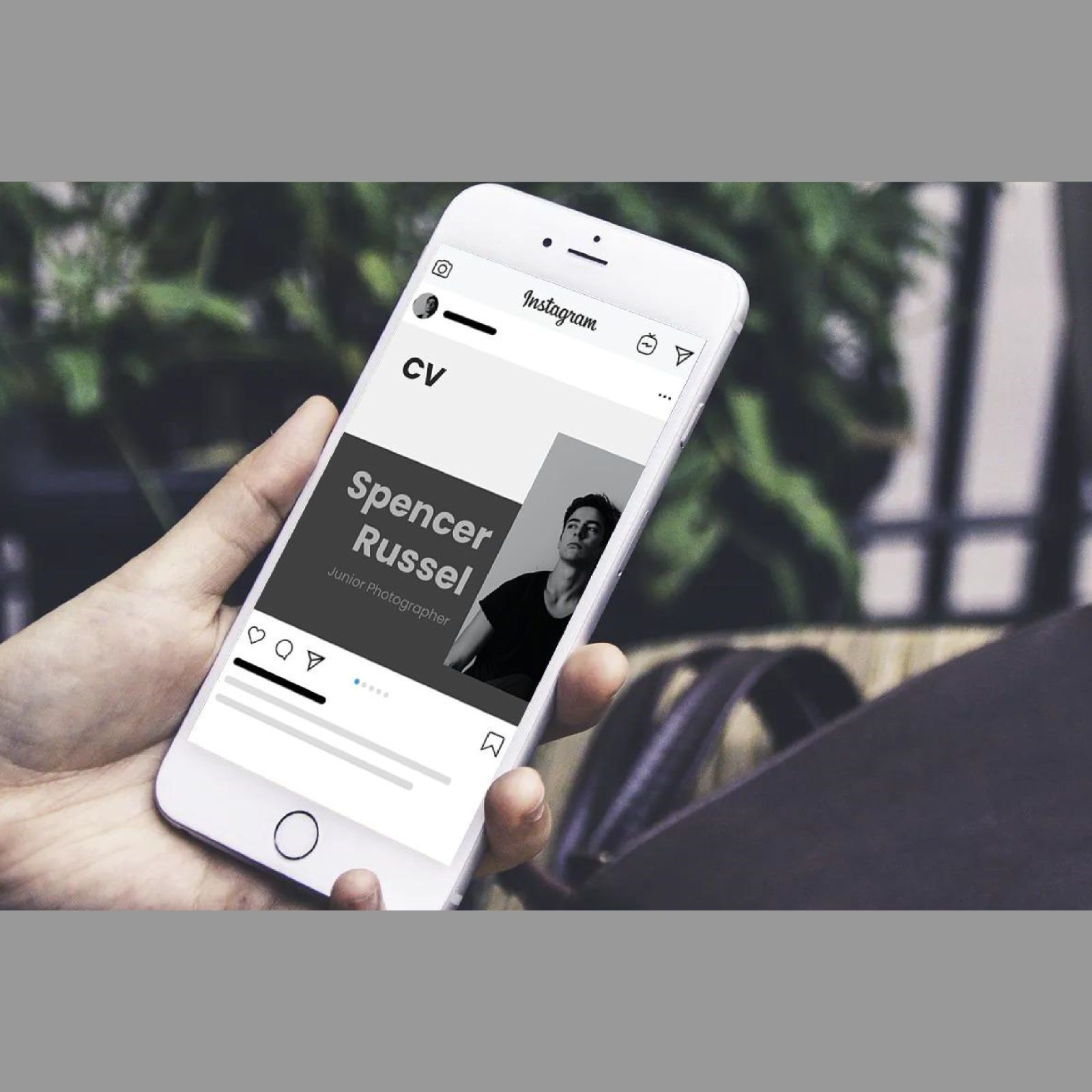 Professional online cv resume instagram carousel keynote template, Slide 2, 08365, Business Models — PoweredTemplate.com