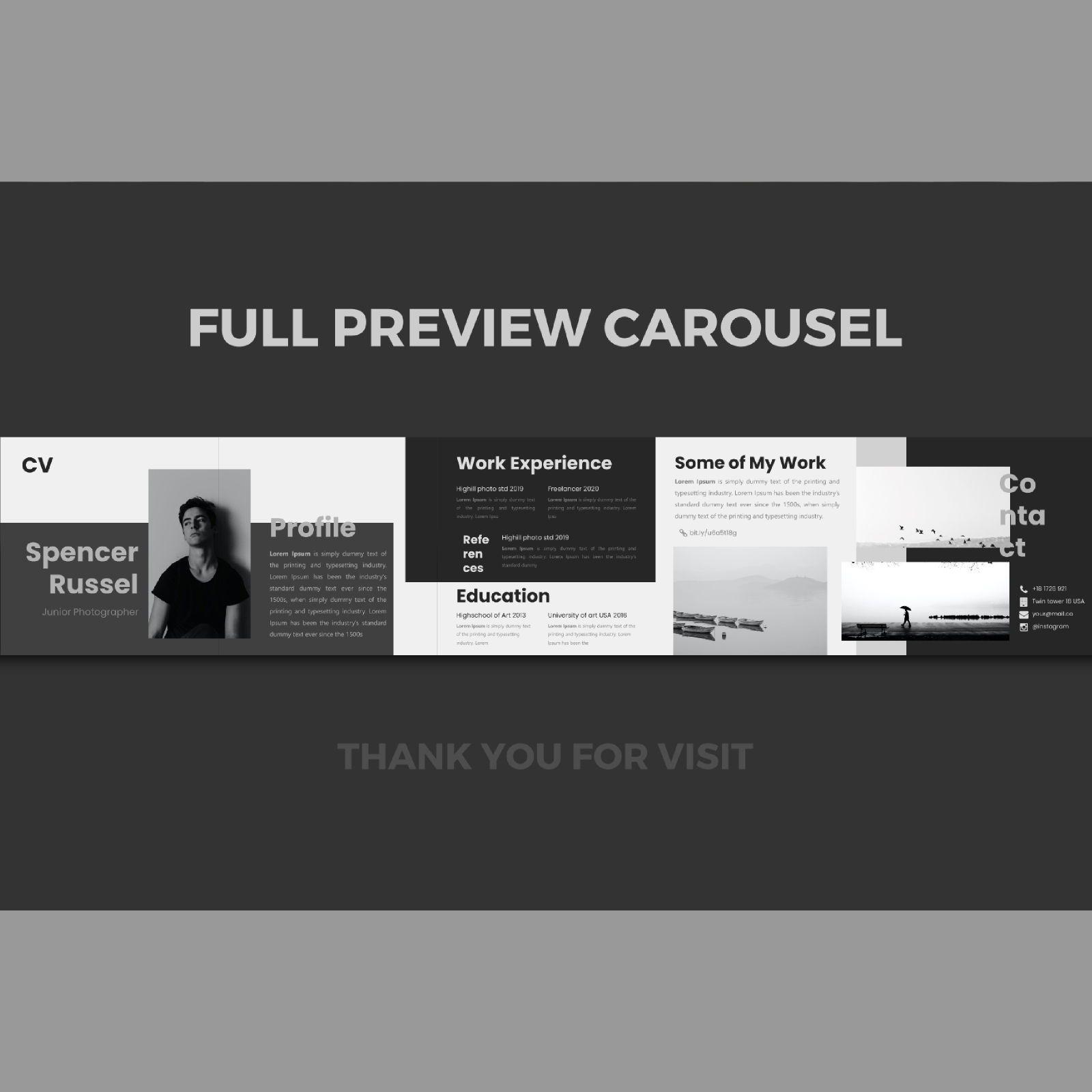 Professional online cv resume instagram carousel keynote template, Slide 3, 08365, Business Models — PoweredTemplate.com