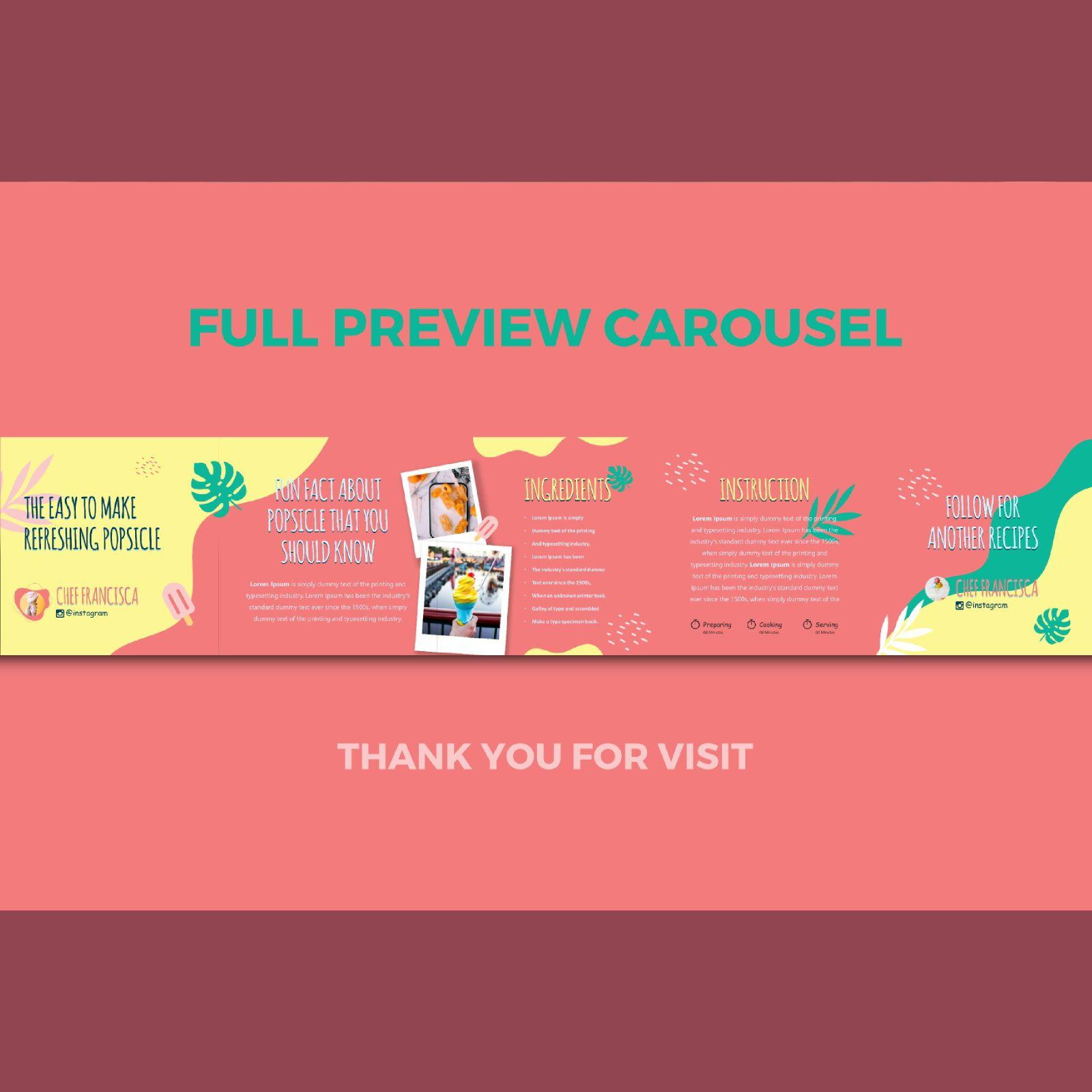 Summer ice recipe instagram carousel keynote template, Slide 3, 08368, Infographics — PoweredTemplate.com