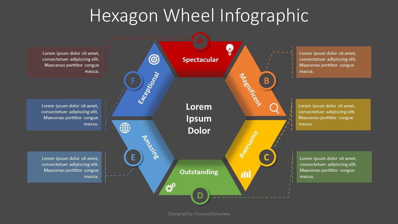 Hexagon Wheel Cycle Diagram, Slide 2, 08369, Infographics — PoweredTemplate.com