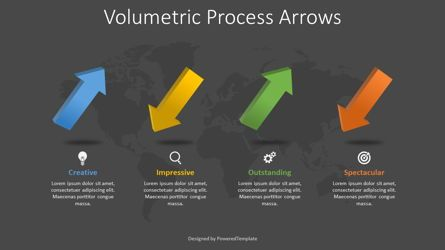 Process Diagrams: 4 Volumetric Alternate Process Arrows #08370