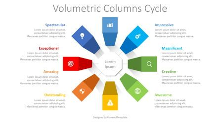 Infographics: Volumetric Columns Cycle Diagram #08372