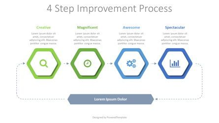 Flow Charts: 4 Step Improvement Process #08376