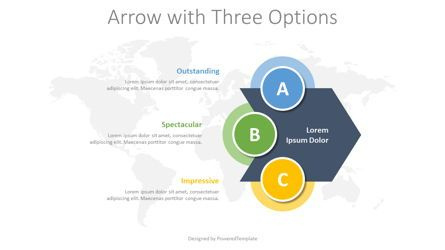 Infographics: Chevron Arrow with 3 Options #08378