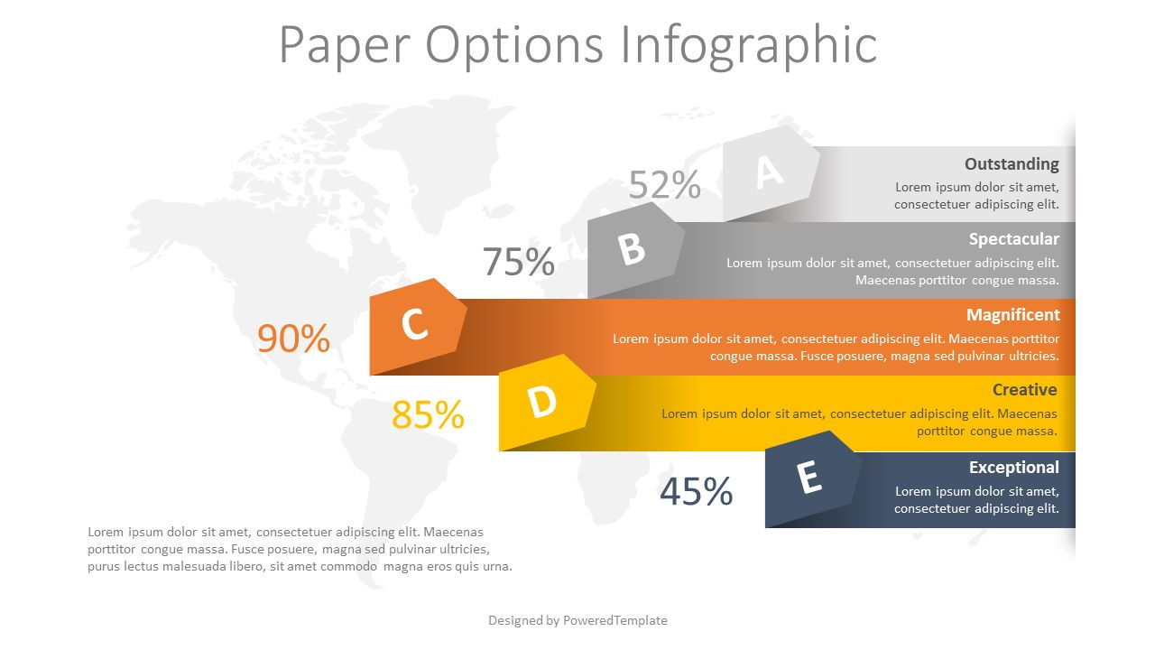 5 Paper Arrow Options Infographic, 08379, Infographics — PoweredTemplate.com