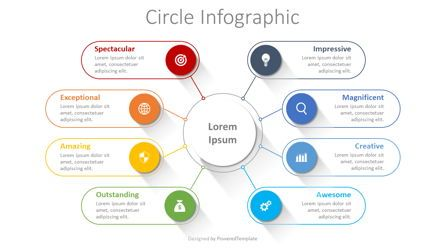 Organizational Charts: Connected Circles Infographic #08381