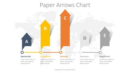 Infographics: 5 Paper Arrows Chart #08382