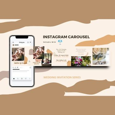 Infographics: Wedding invitation instagram carousel keynote template #08383