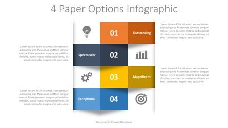Infographics: 4 Numbered Paper Options Infographic #08384