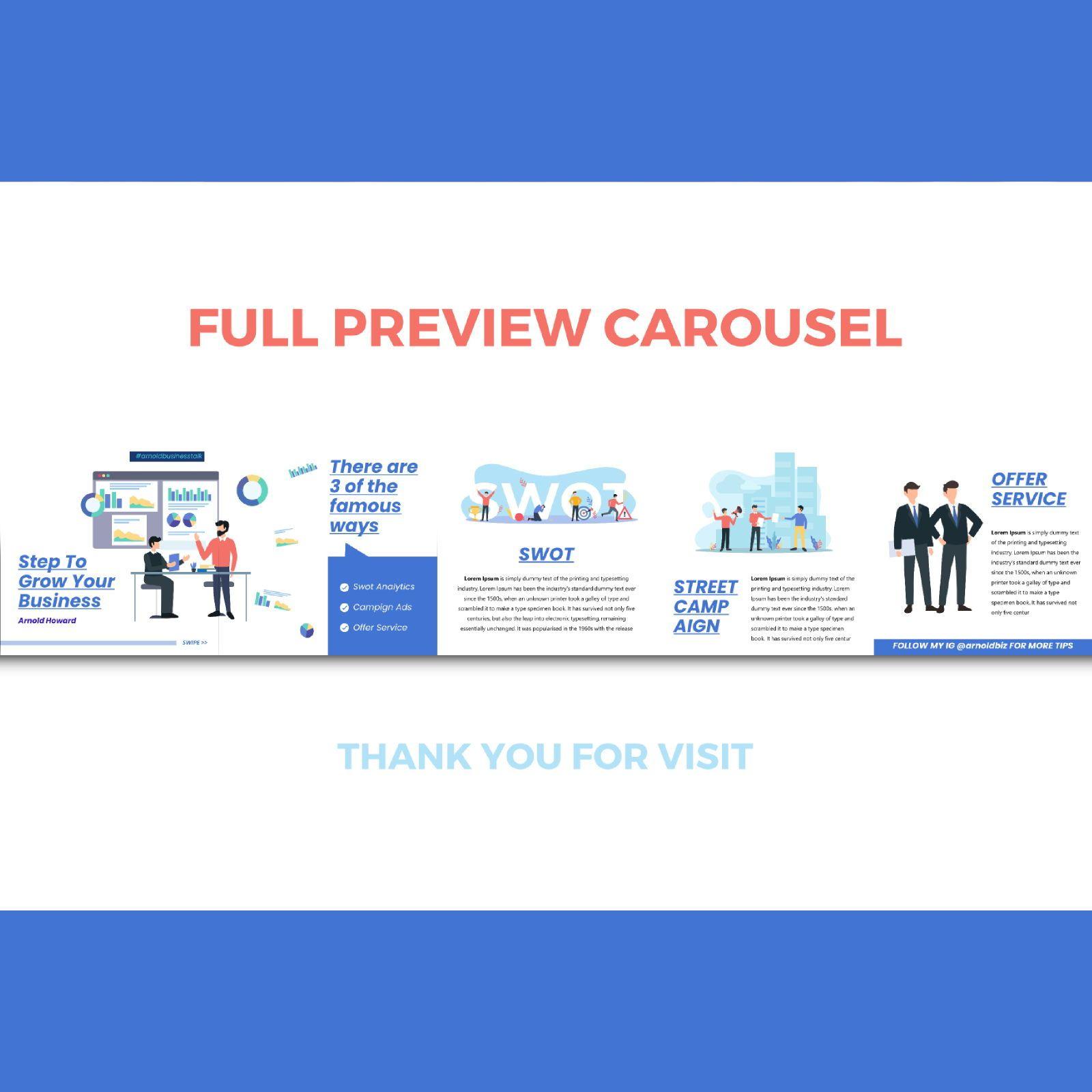 Business cooaching instagram carousel keynote template, Slide 3, 08386, Business Models — PoweredTemplate.com