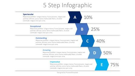 Infographics: 5 Falling Step Infographics #08390