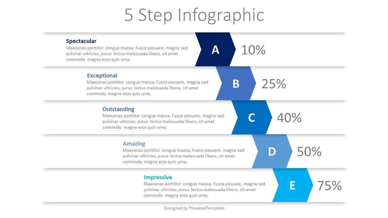 5 Falling Step Infographics, 08390, Infographics — PoweredTemplate.com