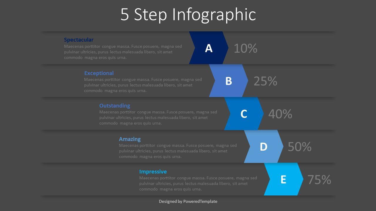 5 Falling Step Infographics, Slide 2, 08390, Infographics — PoweredTemplate.com