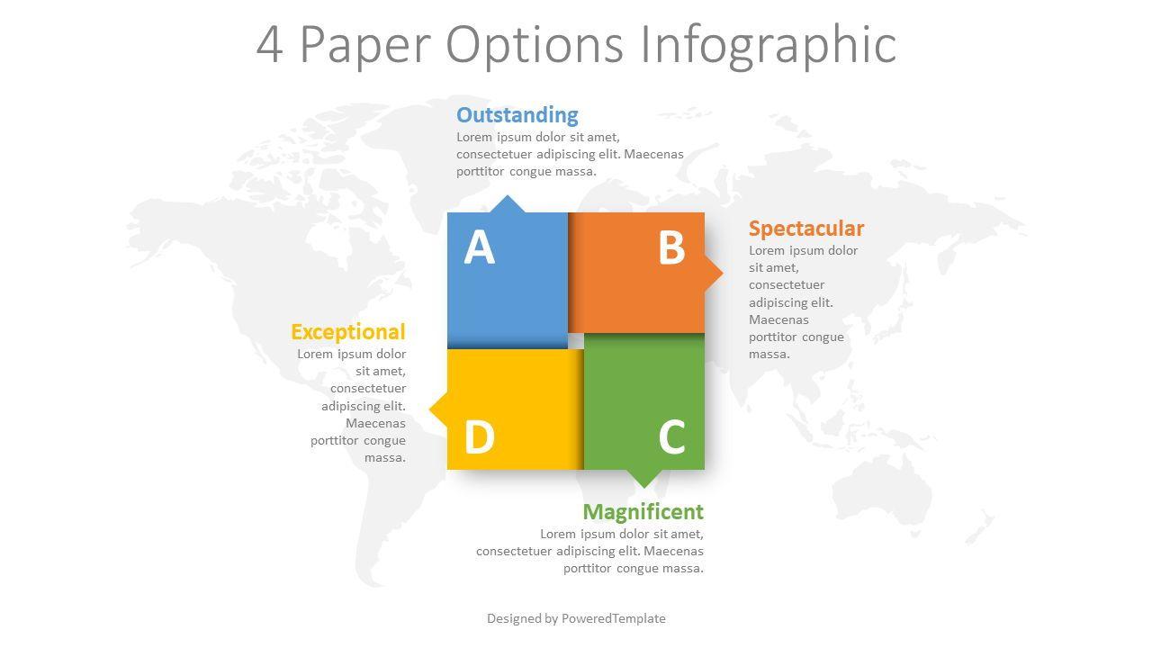 4 Paper Options Infographic, 08391, Infographics — PoweredTemplate.com