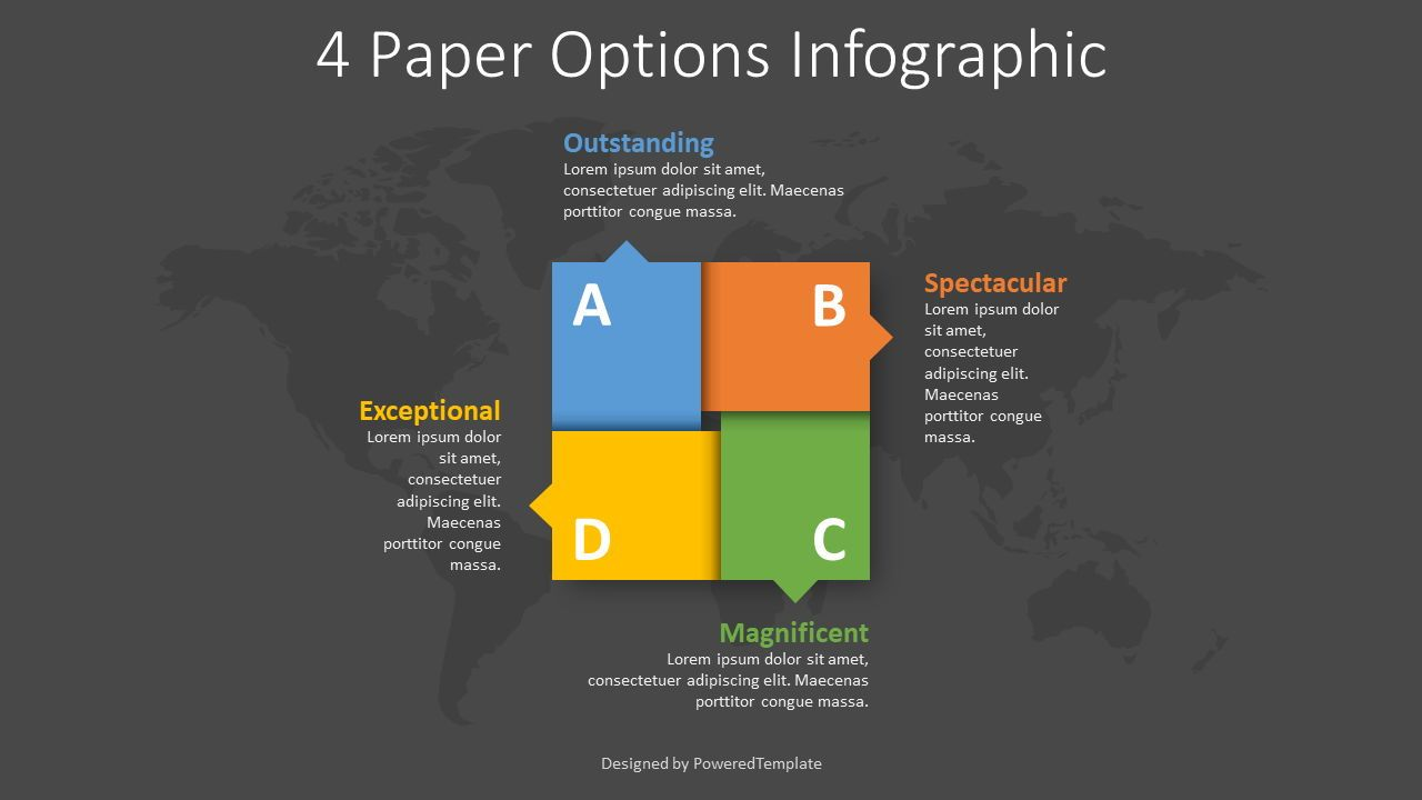 4 Paper Options Infographic, Slide 2, 08391, Infographics — PoweredTemplate.com