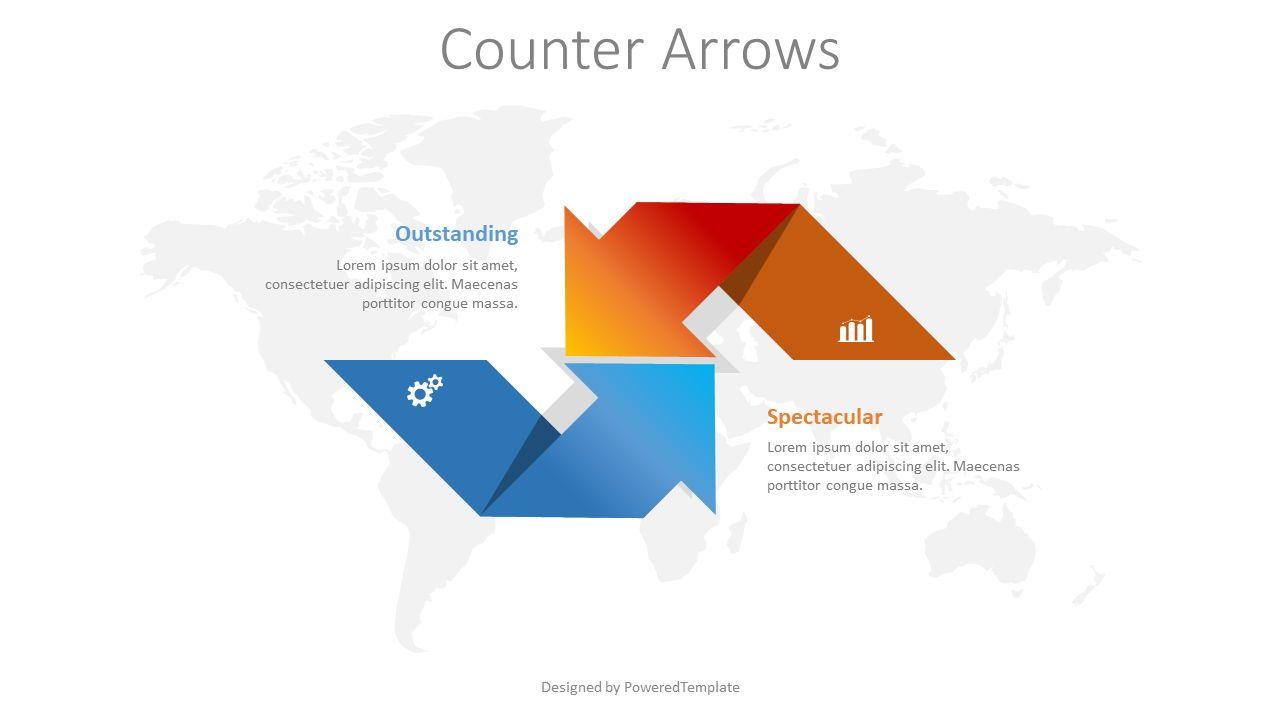 Counter Arrows Infographic, 08392, 프로세스 도표 — PoweredTemplate.com
