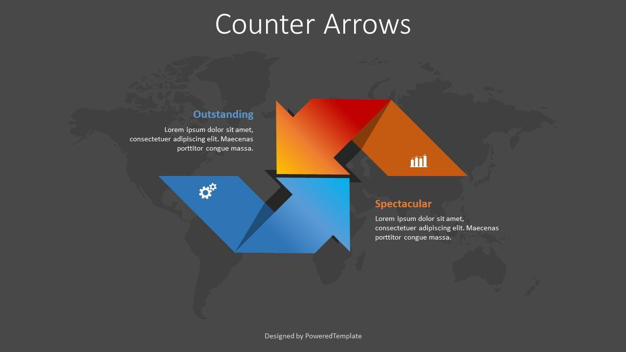 Counter Arrows Infographic, 슬라이드 2, 08392, 프로세스 도표 — PoweredTemplate.com