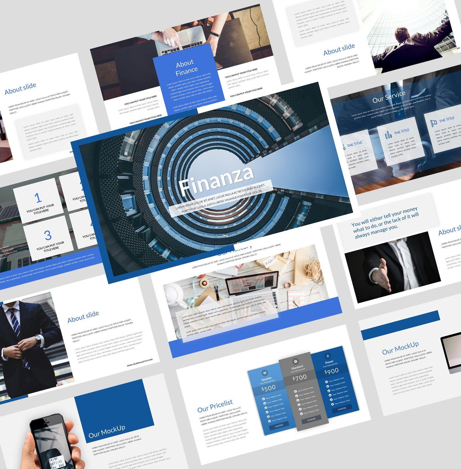 Finanza - Finance Google Slides Template, 08397, Business Models — PoweredTemplate.com