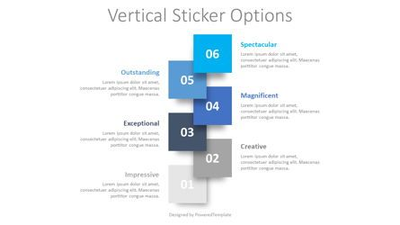 Infographics: Vertical Sticker Options #08398