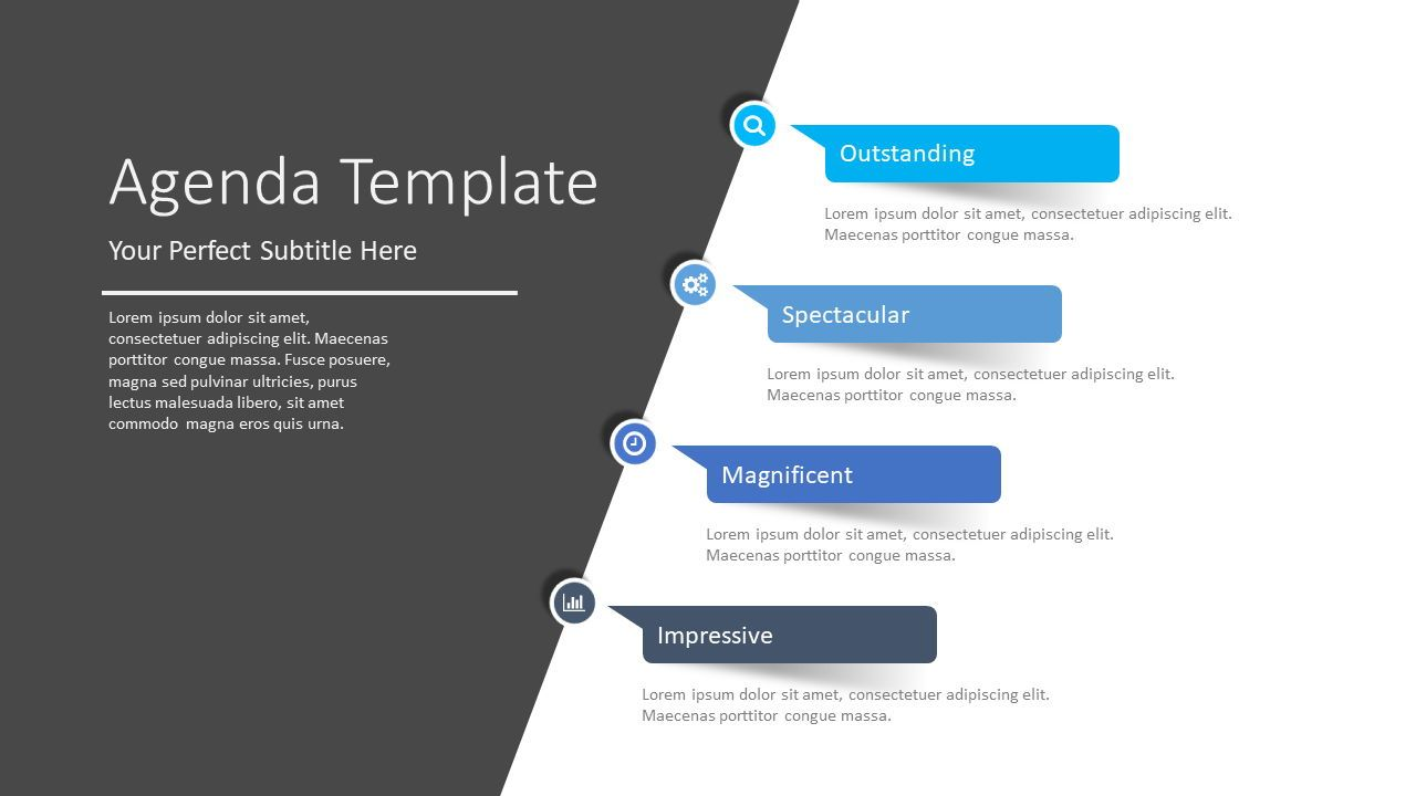 Paper Stickers Agenda Template, 08399, Stage Diagrams — PoweredTemplate.com