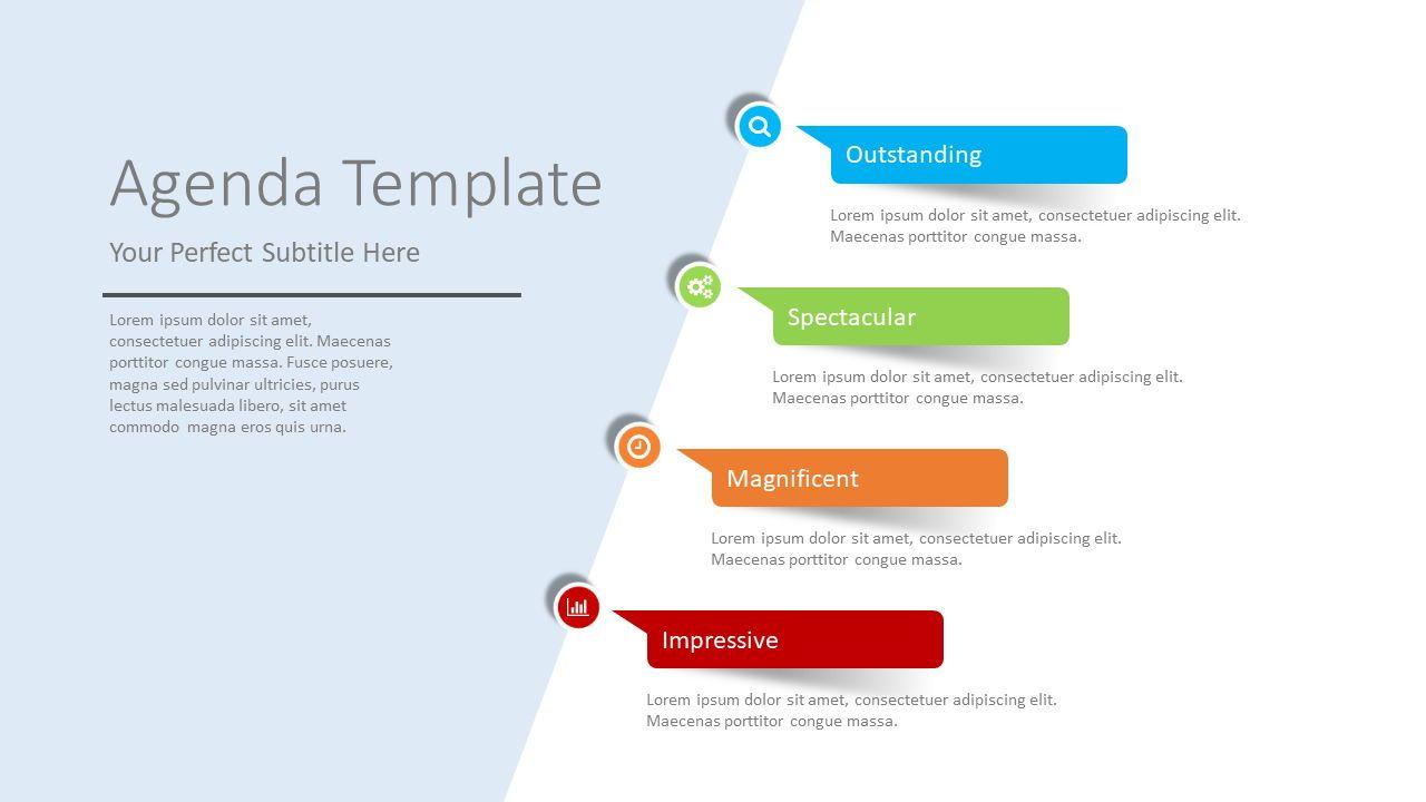 Paper Stickers Agenda Template, Slide 2, 08399, Stage Diagrams — PoweredTemplate.com