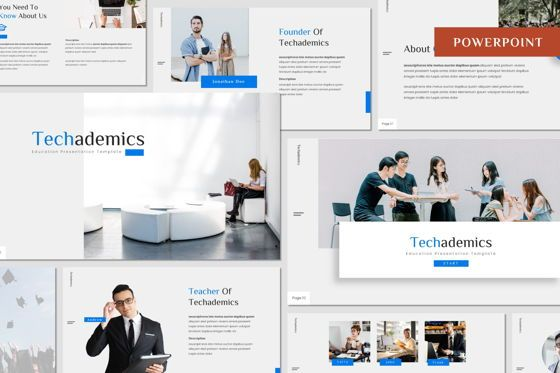 Presentation Templates: Techademics - Powerpoint Template #08400