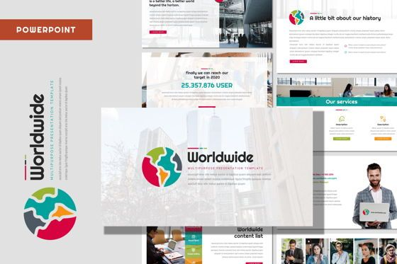 Presentation Templates: Worldwide - Powerpoint Template #08403