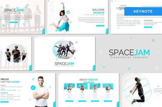 Presentation Templates: Spacejam - Keynote Template #08406