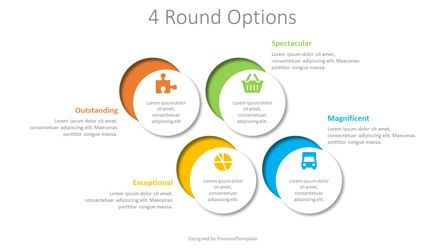 Infographics: 4 Cut Round Shapes Infographic #08408