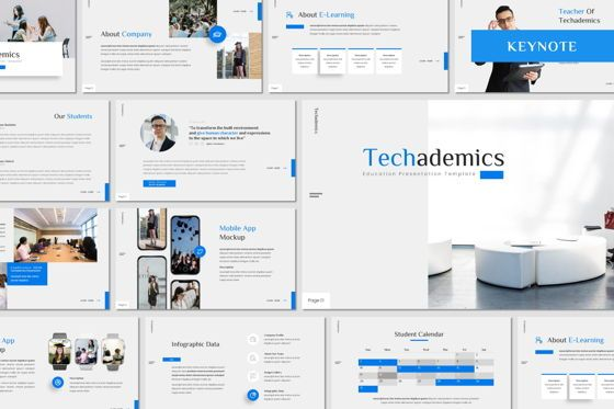 Presentation Templates: Techademics - Keynote Template #08409