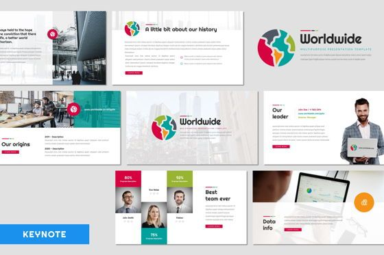 Presentation Templates: Worldwide - Keynote Template #08412