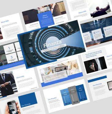 Business Models: Finanza - Finance Powerpoint Template #08413
