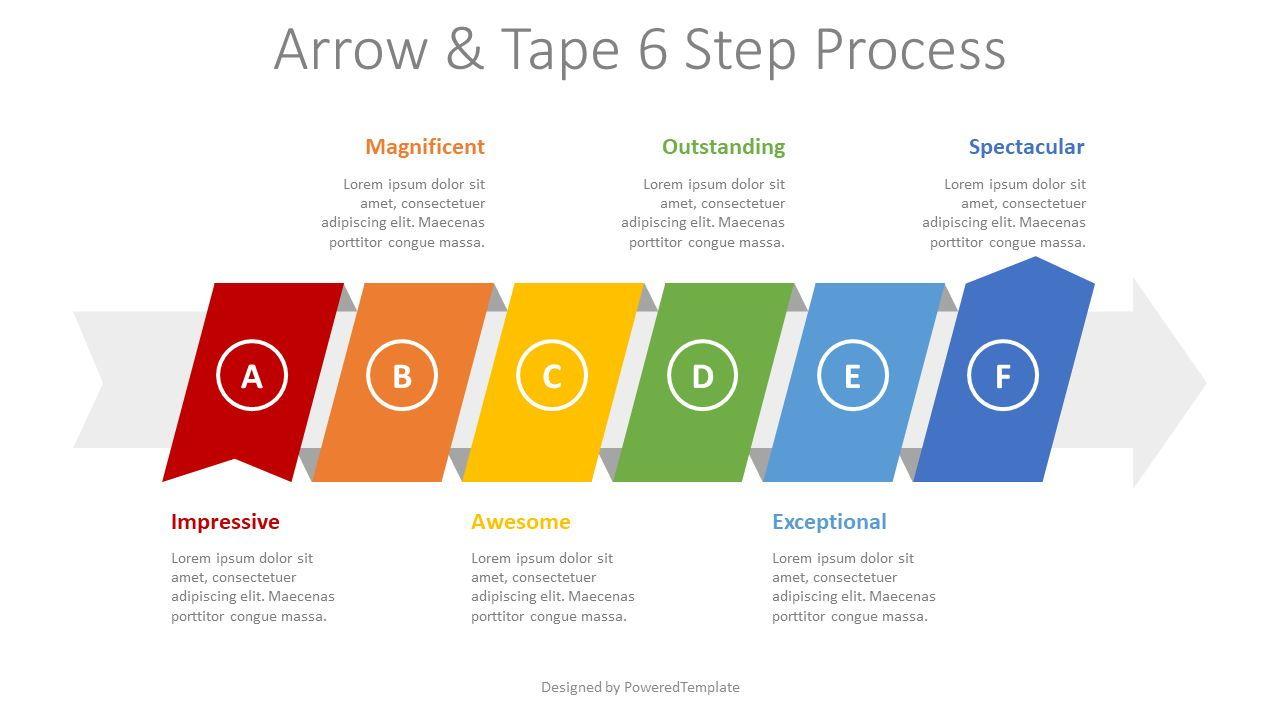 Process Arrow with 6 Options, 08415, Process Diagrams — PoweredTemplate.com