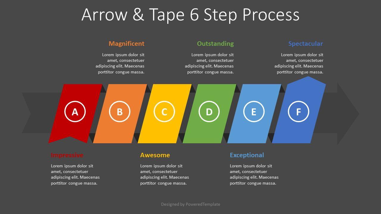 Process Arrow with 6 Options, Slide 2, 08415, Process Diagrams — PoweredTemplate.com