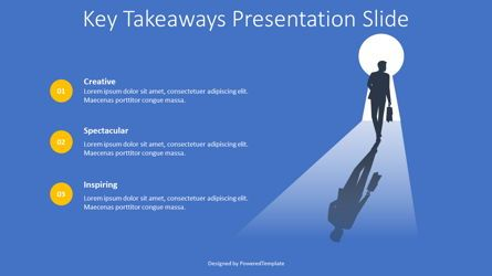 Education Charts and Diagrams: Key Takeaways Presentation Slide #08418