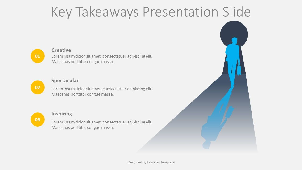Key Takeaways Presentation Slide, Slide 2, 08418, Education Charts and Diagrams — PoweredTemplate.com