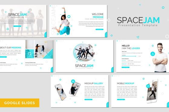 Presentation Templates: Spacejam - Google Slides Template #08419