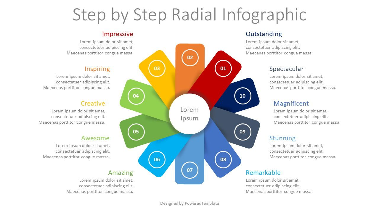 Step by Step Circular Infographic, 08420, Infographics — PoweredTemplate.com
