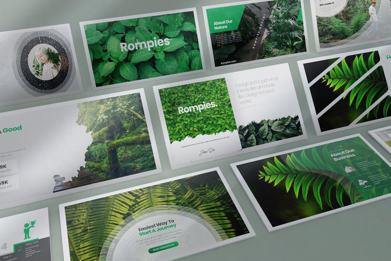 Rompies Google Slide Templates, 08422, Business Models — PoweredTemplate.com
