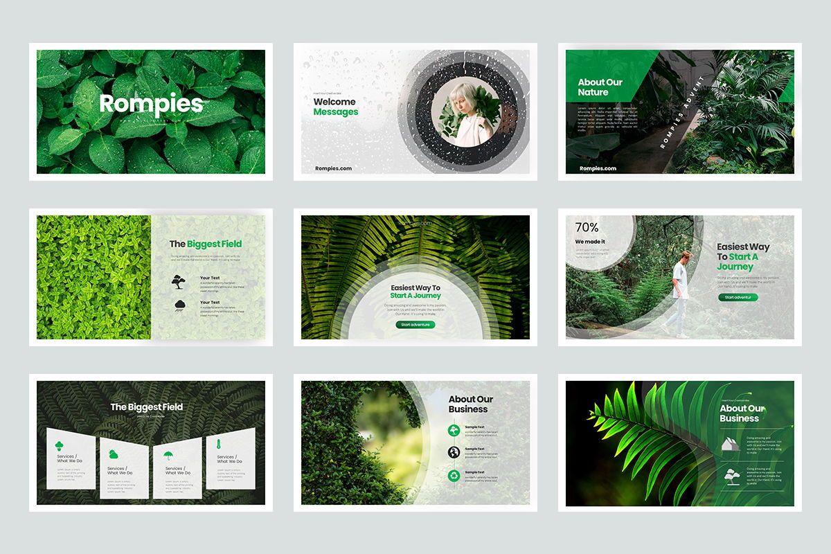 Rompies Google Slide Templates, Slide 2, 08422, Business Models — PoweredTemplate.com