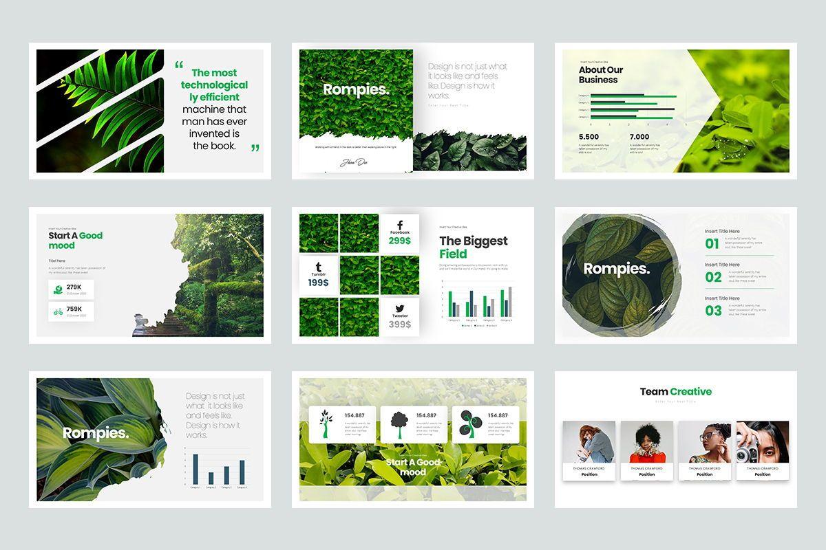 Rompies Google Slide Templates, Slide 3, 08422, Business Models — PoweredTemplate.com