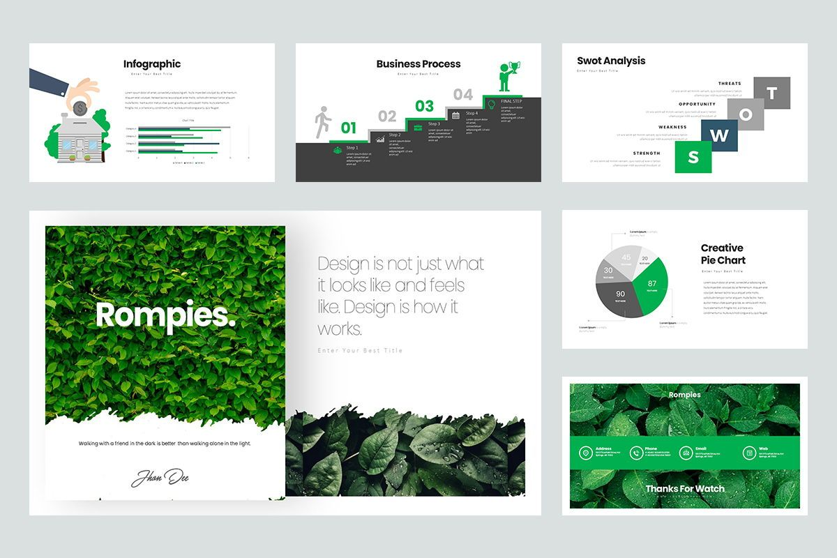 Rompies Google Slide Templates, Slide 5, 08422, Business Models — PoweredTemplate.com