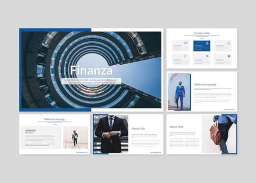 Business Models: Finanza - Finance Keynote Template #08423