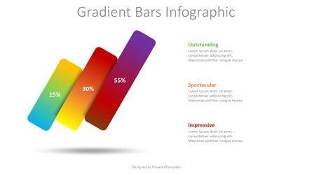 Infographics: 3 Gradient Bars Infographic #08425