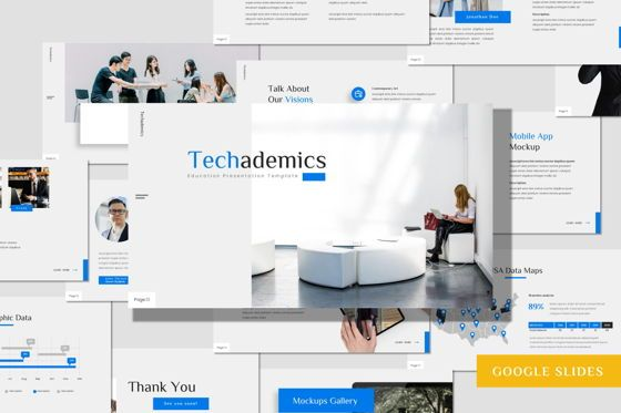 Presentation Templates: Techademics - Google Slides Template #08427