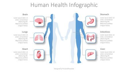 Medical Diagrams and Charts: Human Health Infographic #08429