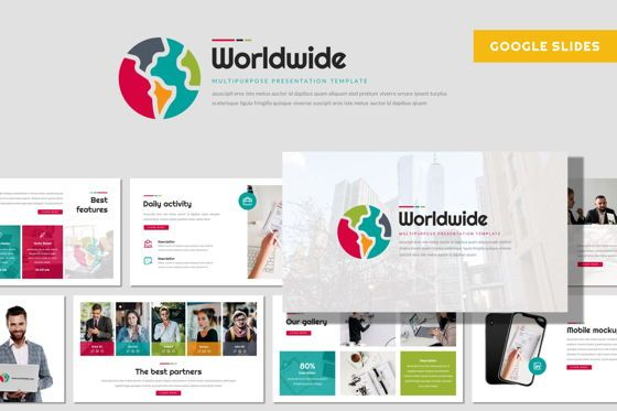 Presentation Templates: Worldwide - Google Slides Template #08430